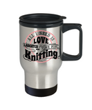 Time for Knitting Stainless Steel Insulated Travel Mug