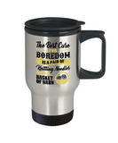 Cure for Boredom - Knitting Stainless Steel Insulated Travel Mug