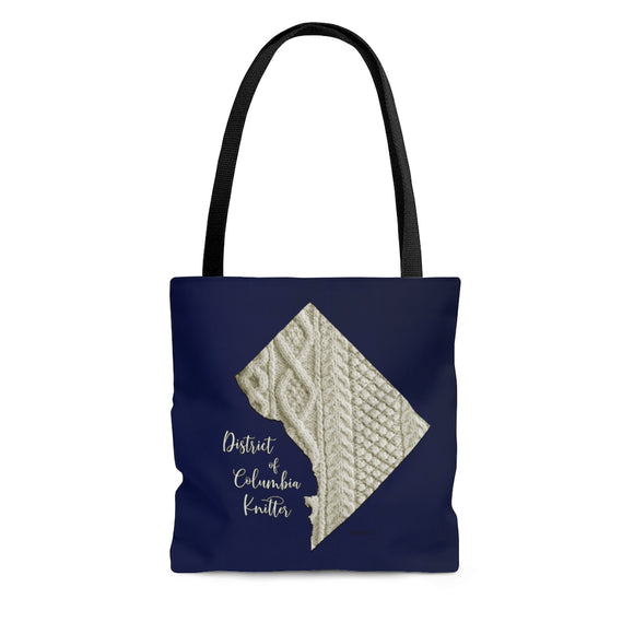 District of Columbia Knitter Cloth Tote Bag