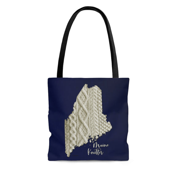 Maine Knitter Cloth Tote Bag