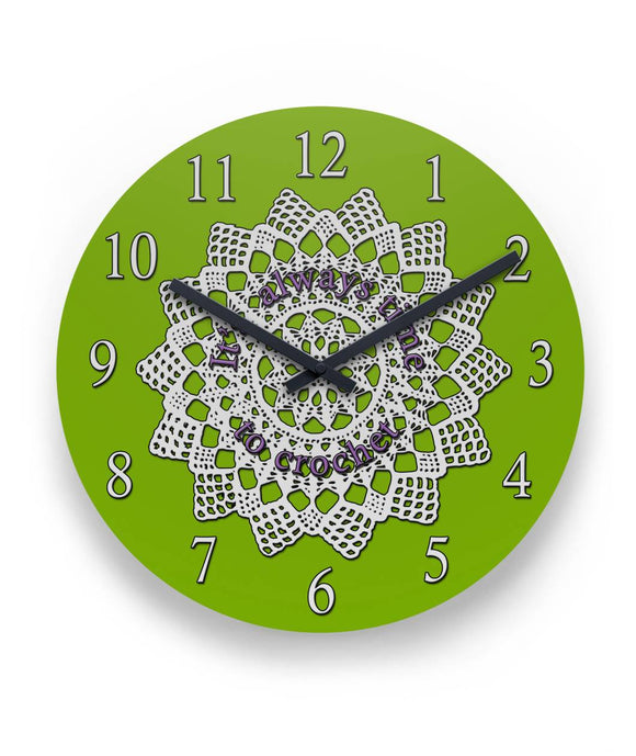 It's Always Time to Crochet Wall Clock 11
