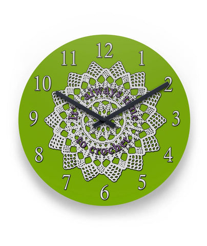 "It's Always Time to Crochet Wall Clock 11"" Round Wall Clock"