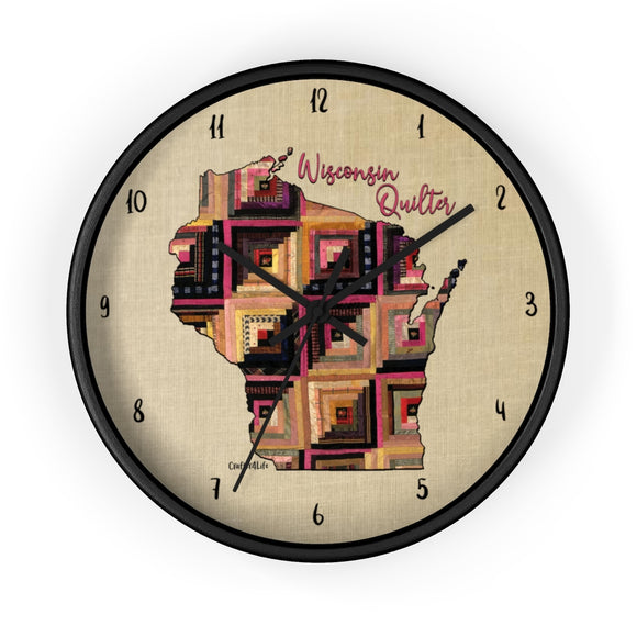 Wisconsin Quilter - Wall clock