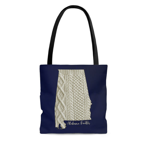 Alabama Knitter Cloth Tote Bag