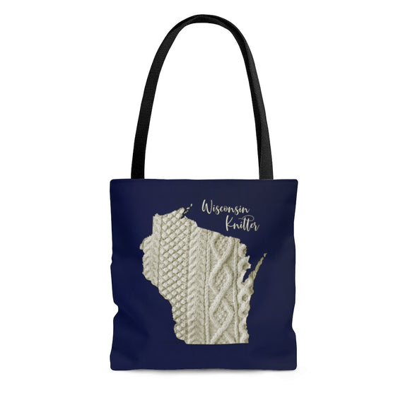 Wisconsin Knitter Cloth Tote Bag