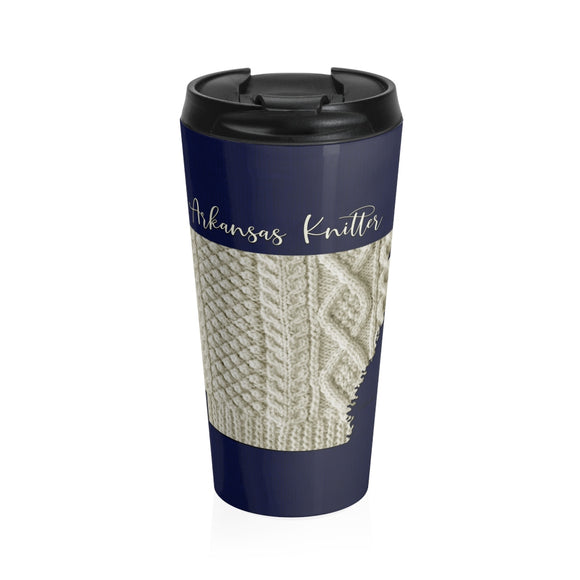 Arkansas Knitter Stainless Steel Travel Mug