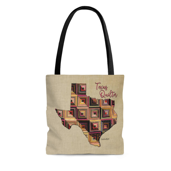 Texas Quilter Cloth Tote Bag
