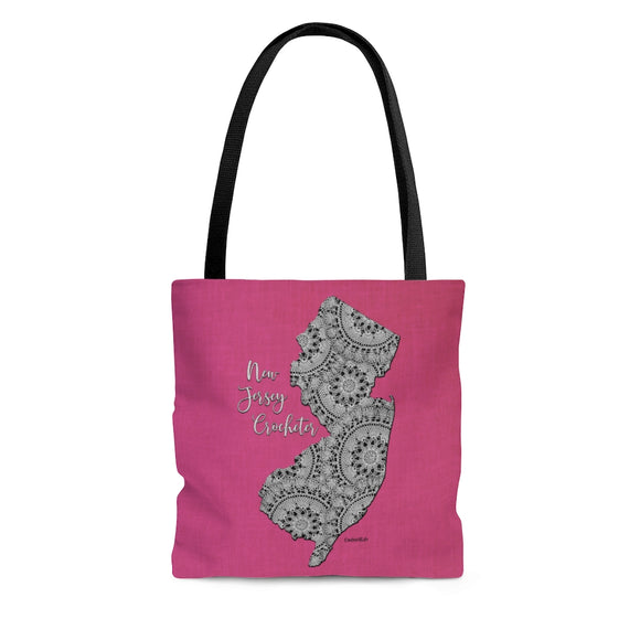 New Jersey Crocheter Cloth Tote Bag