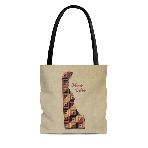 Delaware Quilter Cloth Tote Bag