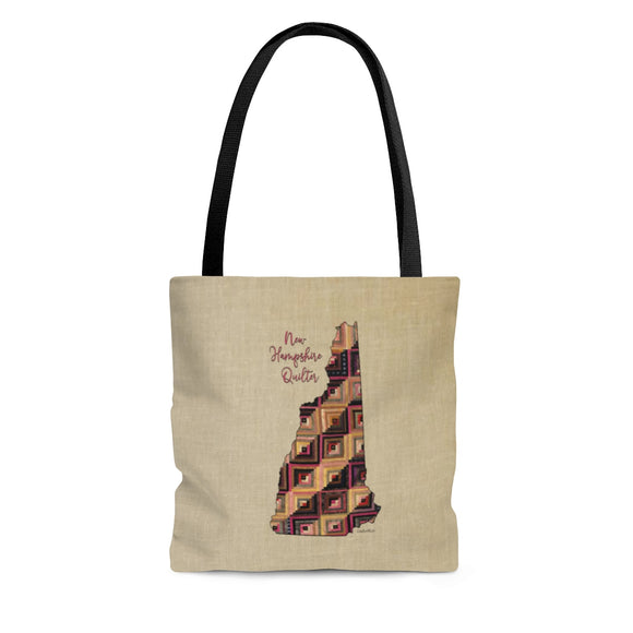 New Hampshire Quilter Cloth Tote Bag