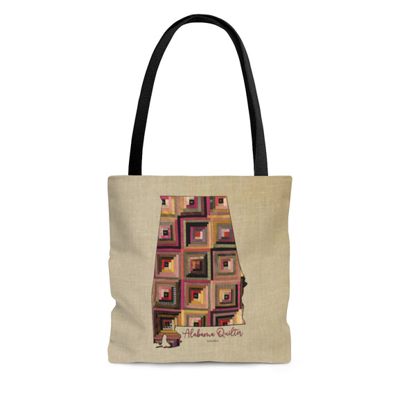Alabama Quilter Cloth Tote Bag
