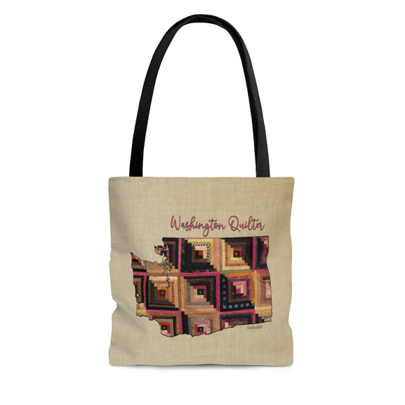 Washington Quilter Cloth Tote Bag