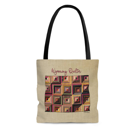 Wyoming Quilter Cloth Tote Bag