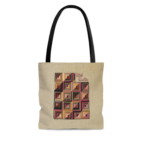 Utah Quilter Cloth Tote Bag