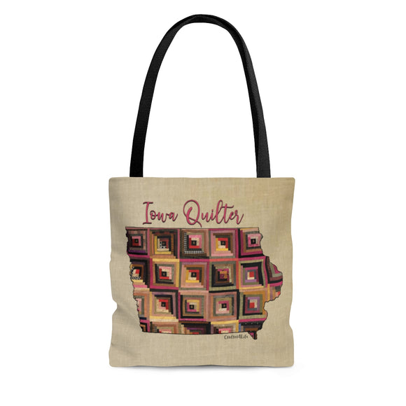 Iowa Quilter Cloth Tote Bag