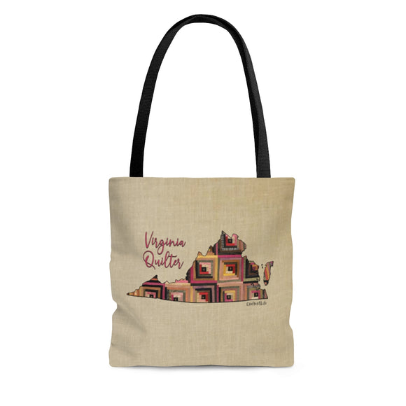 Virginia Quilter Cloth Tote Bag