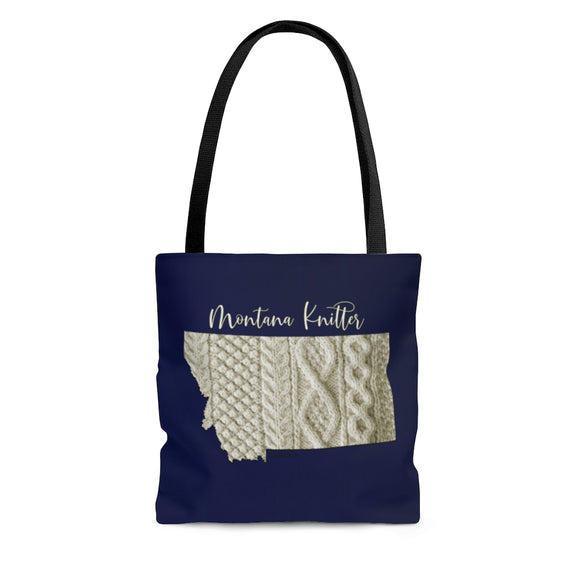 Montana Knitter Cloth Tote Bag
