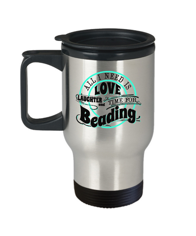 Time for Beading Stainless Steel Insulated Travel Mug