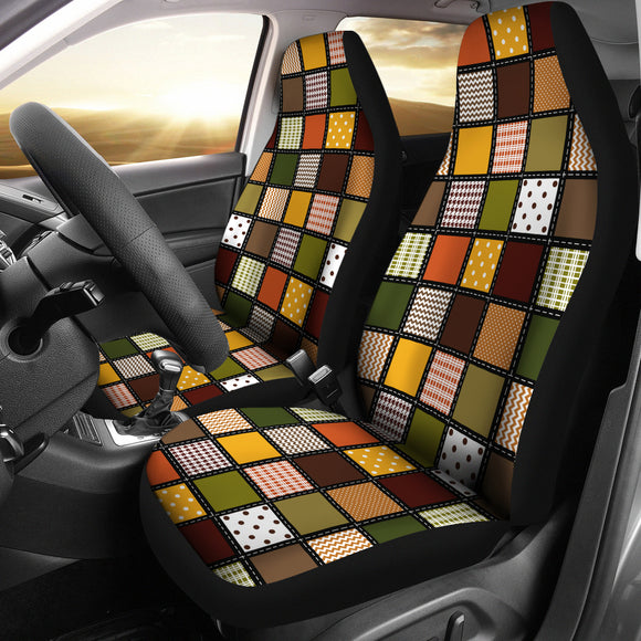 Fall Patchwork Car Seat Covers