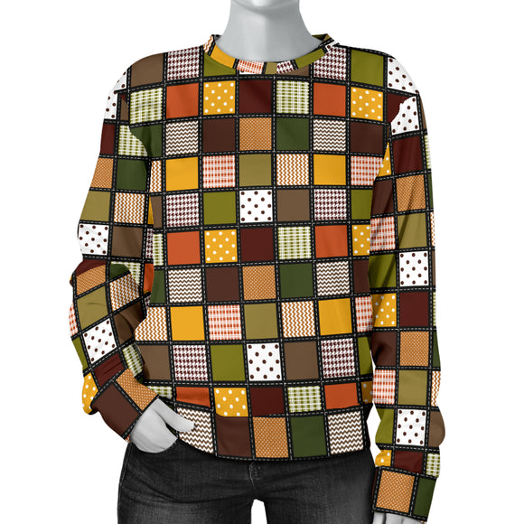 Fall Patchwork Ladies Sweater