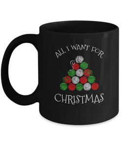 All I Want for Christmas is Yarn Ceramic Mug (black) (11oz)