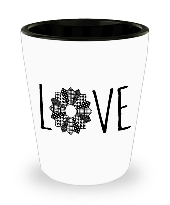 LOVE Quilt Shot Glass