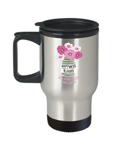 Happiness Blooms with Crafts - Stainless Steel Insulated Travel Mug