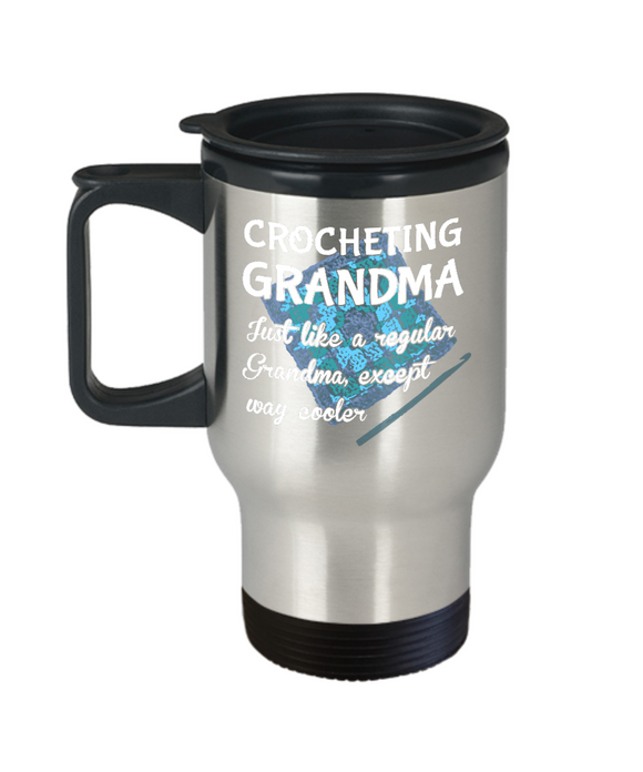 Crocheting Grandma - Stainless Steel Insulated Travel Mug