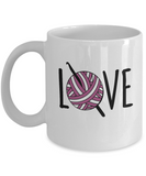 Crochet Love Mug 11oz ceramic