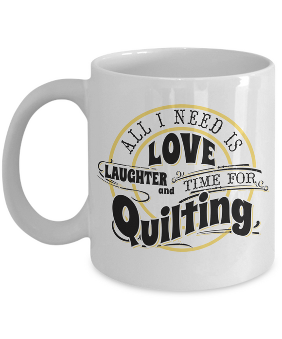 Time for Quilting Mug (white)