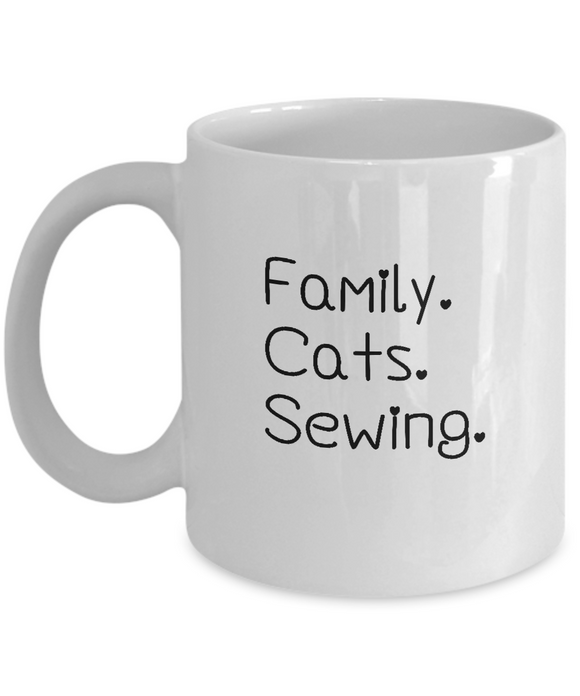 Family-Cats-Sewing Ceramic Mug