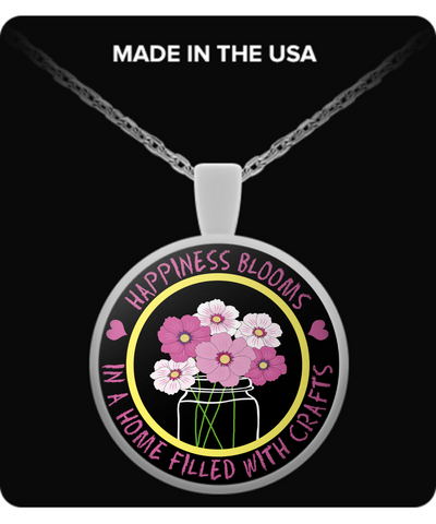 Happiness Blooms with Crafts Pendant (silver plated) - Crafter4Life