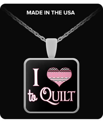 I Heart to Quilt Pendant (silver plated) - Crafter4Life