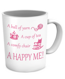 Happy Me Mug (white) (11oz) - Crafter4Life