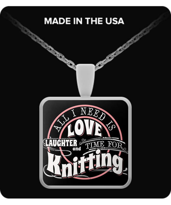 Time for Knitting Pendant (silver plated) - Crafter4Life