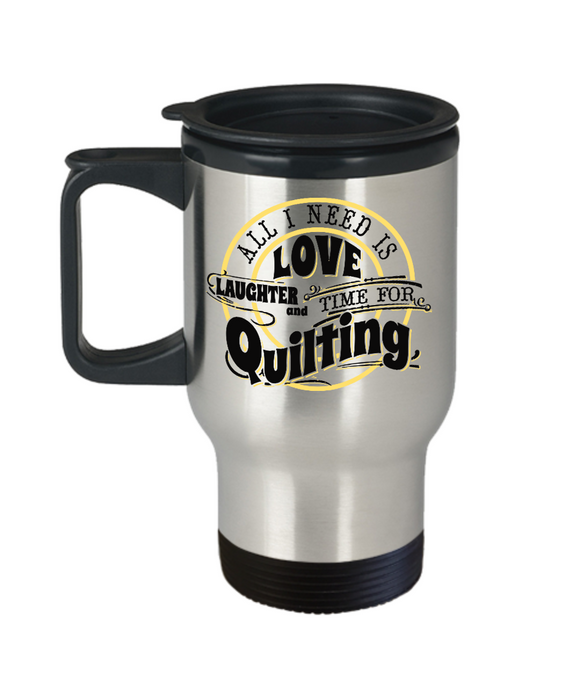 Time for Quilting Stainless Steel Insulated Travel Mug