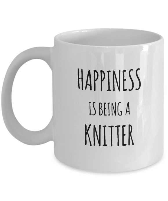 Happiness is Being a Knitter - Ceramic Mugs