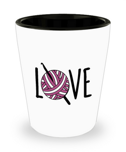 Crochet LOVE Shot Glass