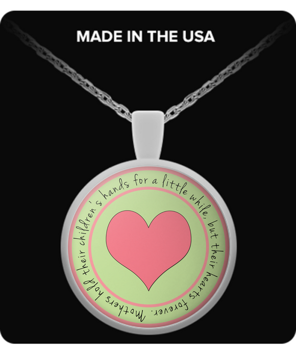 Mothers Pendant Necklace Silver Plated