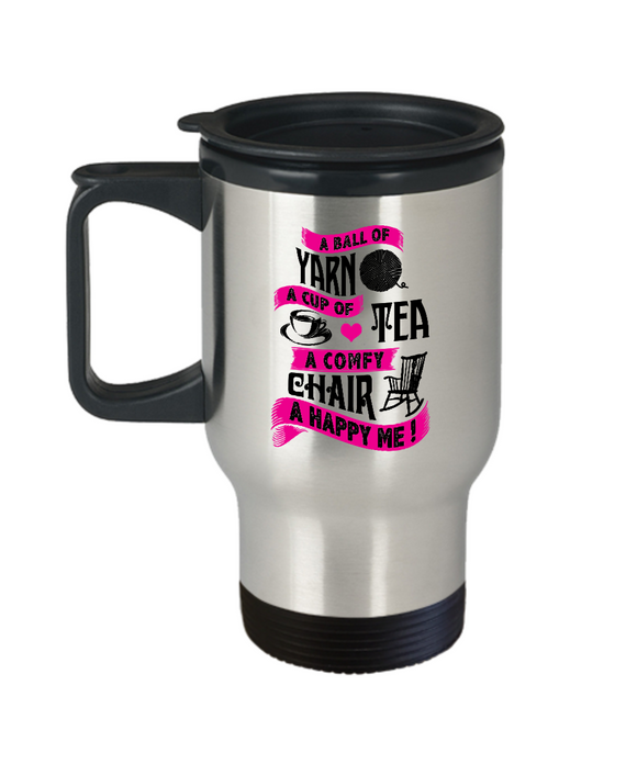 A Ball of Yarn Stainless Steel Insulated Travel Mug