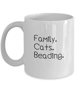 Family-Cats-Beading Ceramic Mug