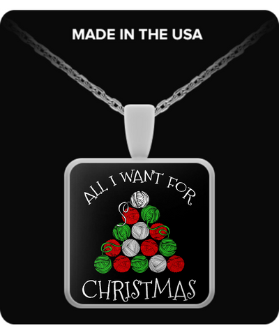 All I Want for Christmas is Yarn Pendant (silver plated)