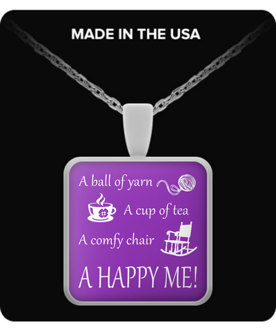 Happy Me Pendant (silver plated) - Crafter4Life
