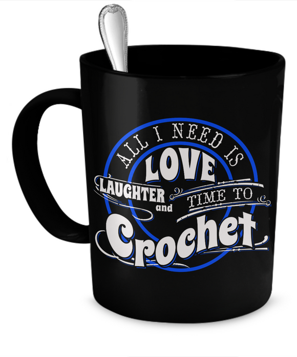Time to Crochet Mug (black) (11oz) - Crafter4Life - 1