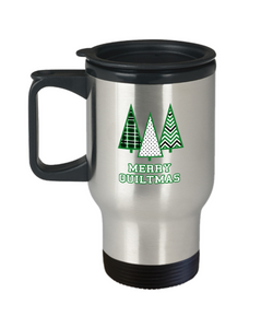 Merry Quiltmas Stainless Steel Insulated Travel Mug
