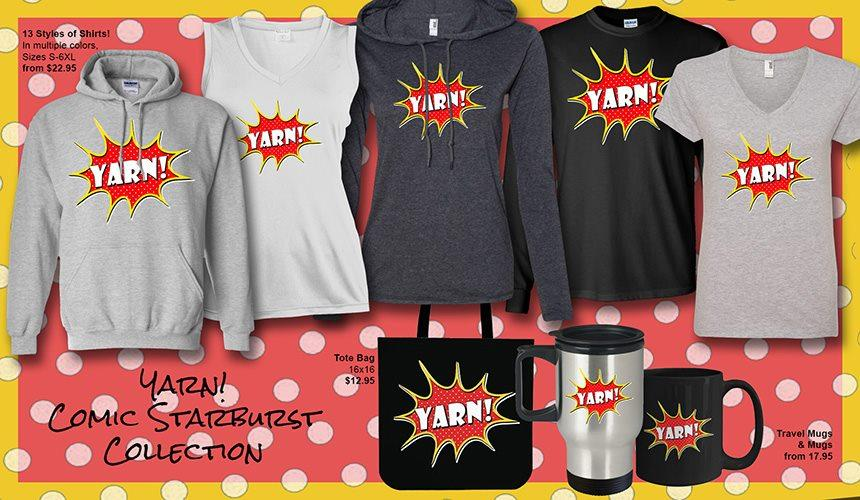 Click Here To Shop Our Yarn! Comic Starburst Collection