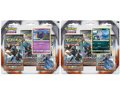 Set of 2 SUN & MOON: BURNING SHADOWS 3-Pack Blister - Includes BOTH!