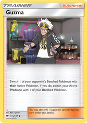 Guzma 115/147 Sun & Moon: Burning Shadows