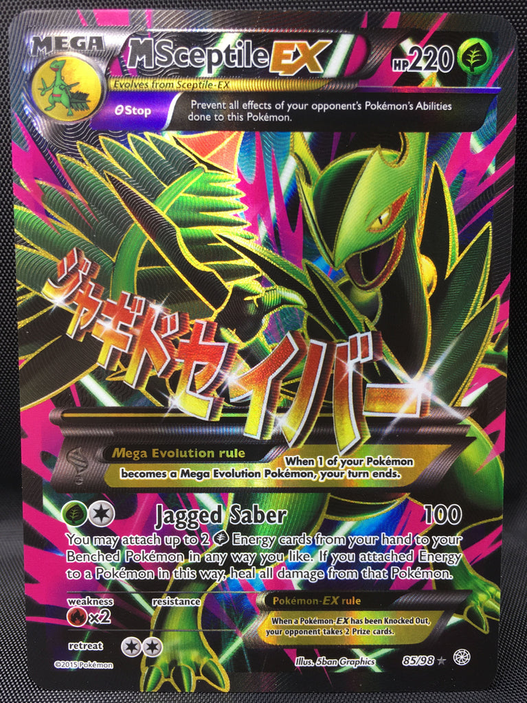Mega M Sceptile EX 85/98 FULL ART Pokemon TCG : XY Ancient Origins