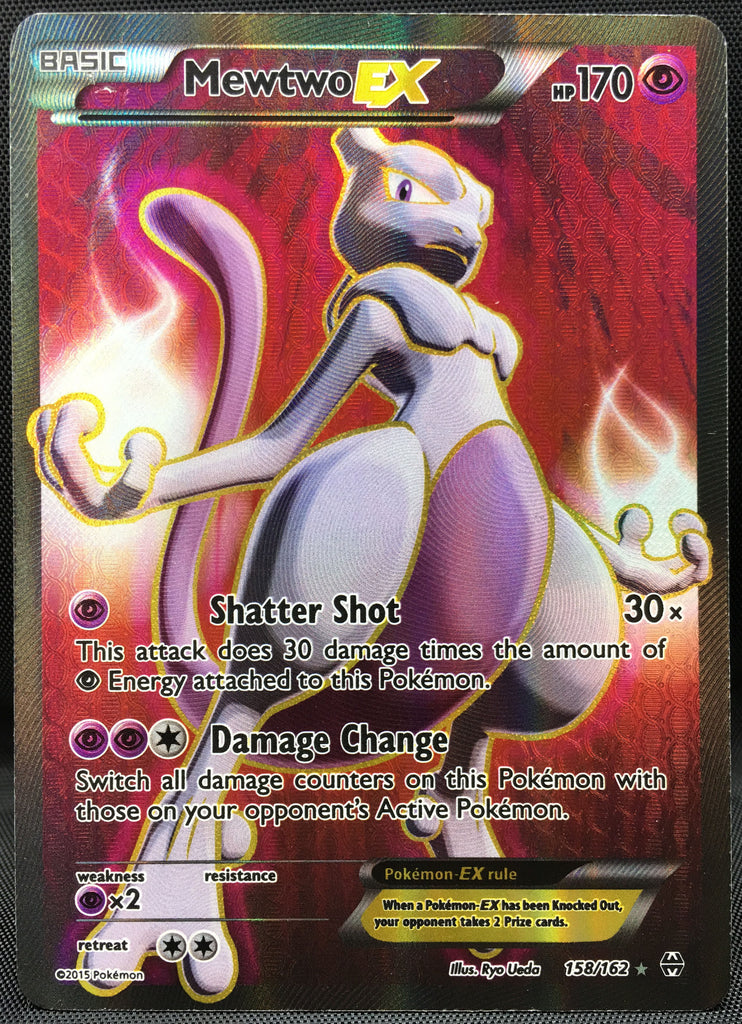 Mewtwo EX 158/162 FULL ART Pokemon TCG : XY Breakthrough